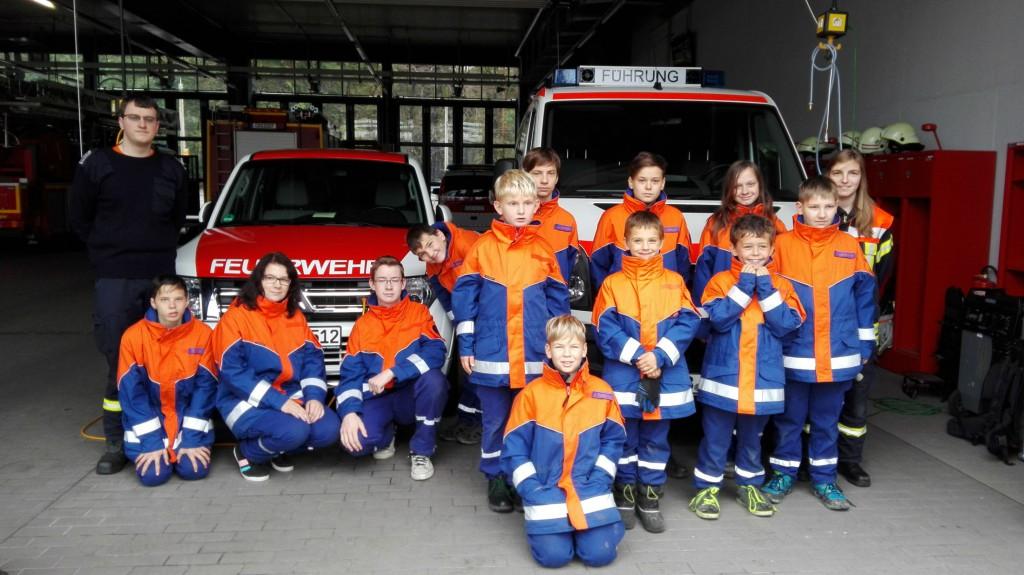 Die Jugendfeuerwehr beim Besuch der BF in Cottbus