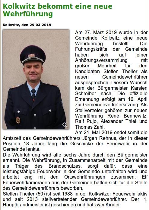 Pressemitteilung neue Gemeindewehrführung