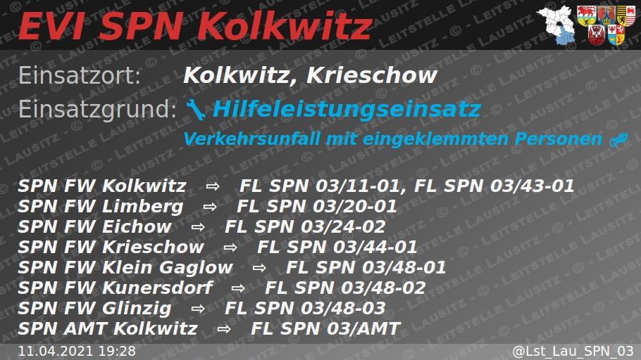 Einsatzvorinformation der Leitstelle Lausitz bei twitter
